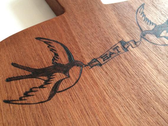 Tattoo Motiv Cheese Board By Woodchopchop