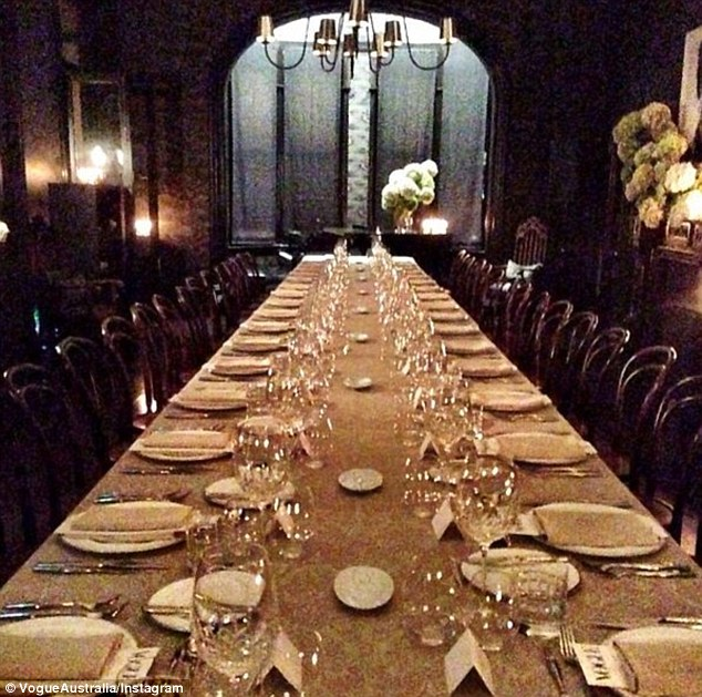 Baz Luhrman and wife Catherine Martin held a dinner party for Vogue Australia