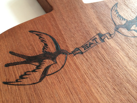 Tattoo Motiv Cheese Board By Woodchopchop