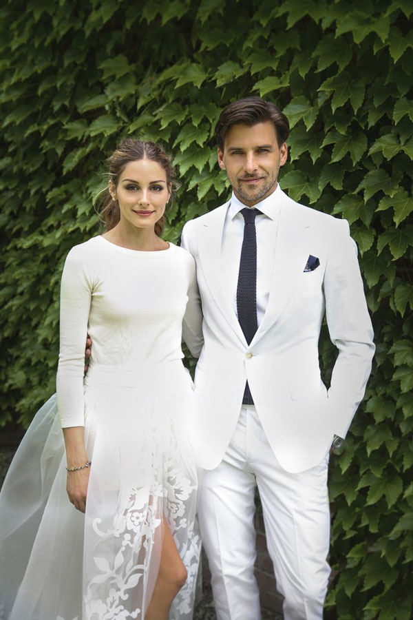 Olivia Palermo and Johannes Huebl on their wedding day